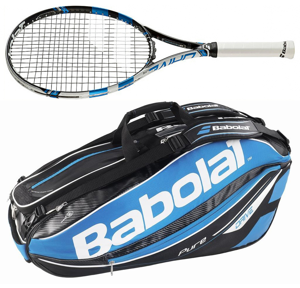 Set of 2 babolat pure drive lite 2015 tennis racket plus - Babolat pure drive lite tennis racquet ...