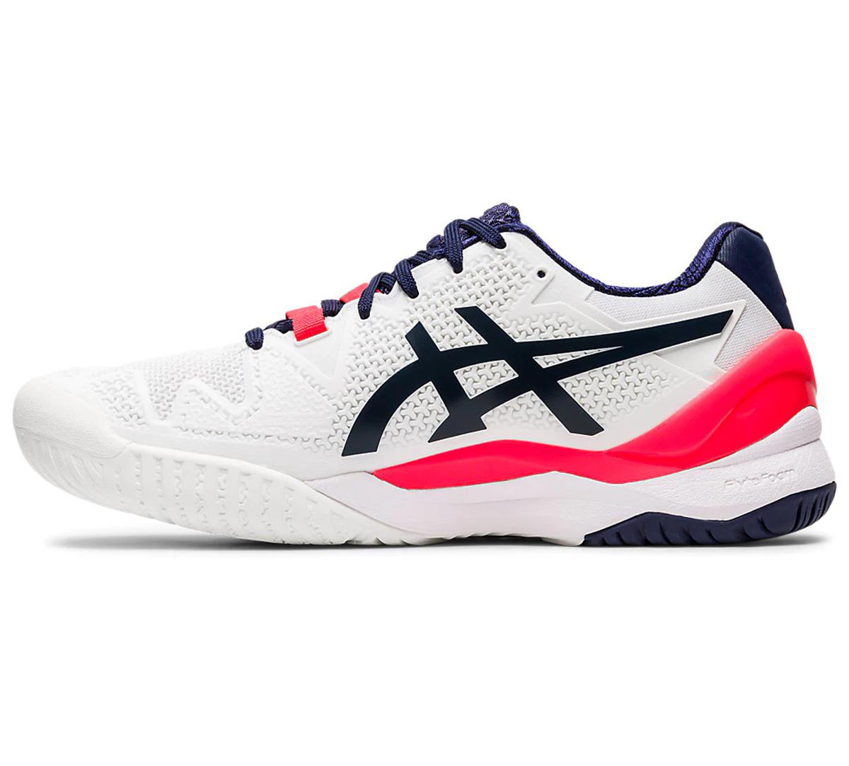 Asics Gel Resolution 8 AC White Peacoat buty tenisowe